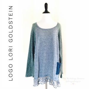 Logo by Lori Goldstein Terry Color Block Top